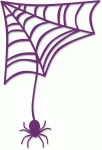 204x300 Spider Web Clipart Purple