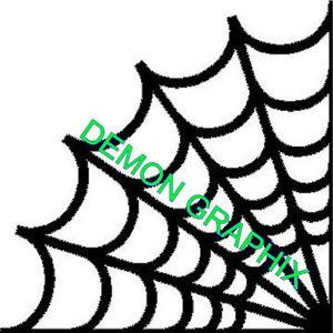 300x300 Spider Web Corner Vinyl Decalsticker Outline Cobweb Jdm Halloween