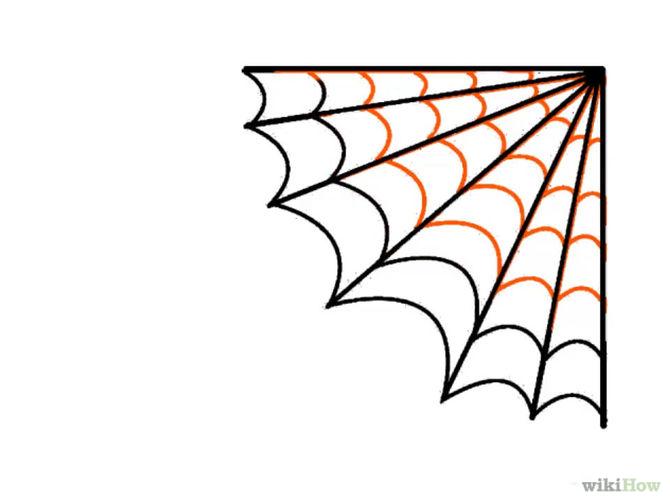 Spider web easy. Corner clipart free download