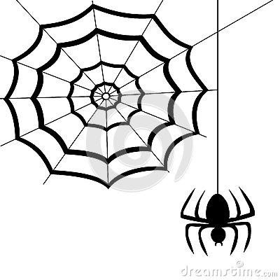 400x400 Drawn Spider Web Spinning