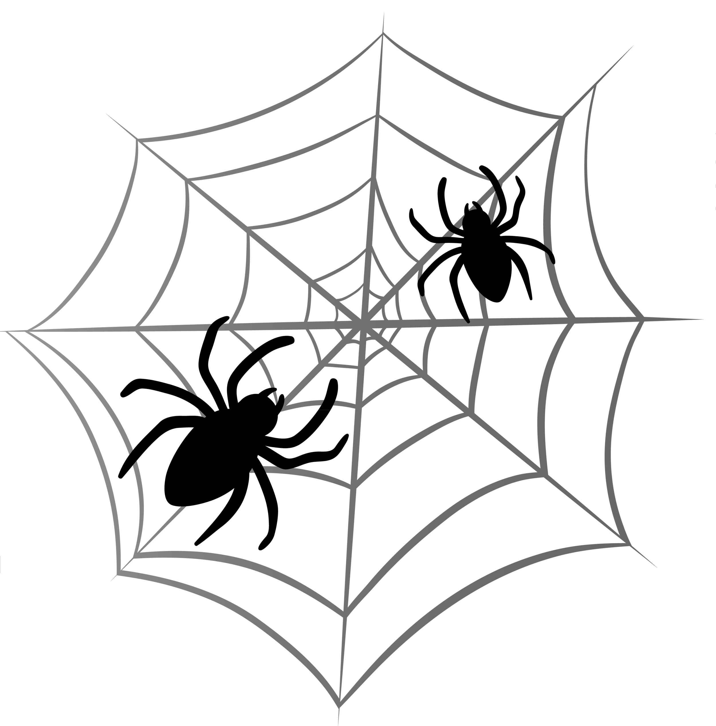 2500x2535 Halloween Spider Web Clipart 2 Clipartcow