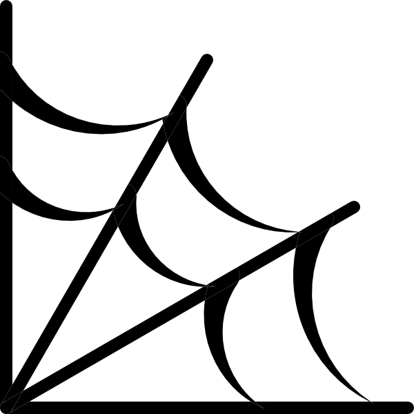 600x600 Spider Web Icon Clip Art