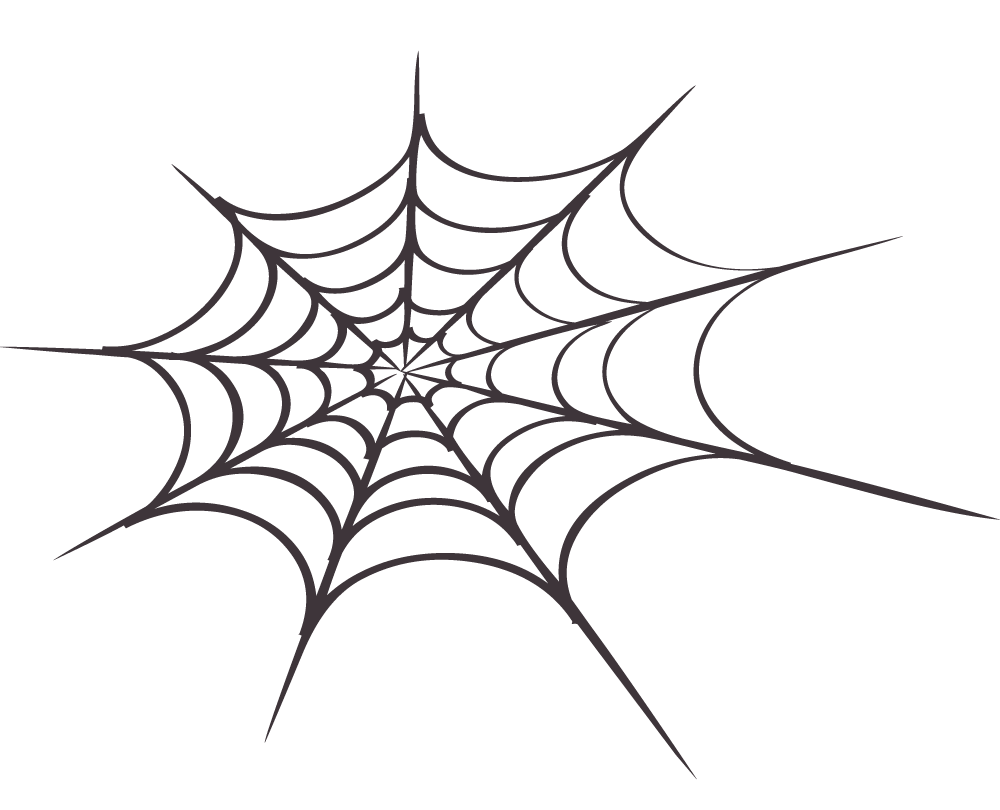 1000x810 Spiderweb With Spider Clipart