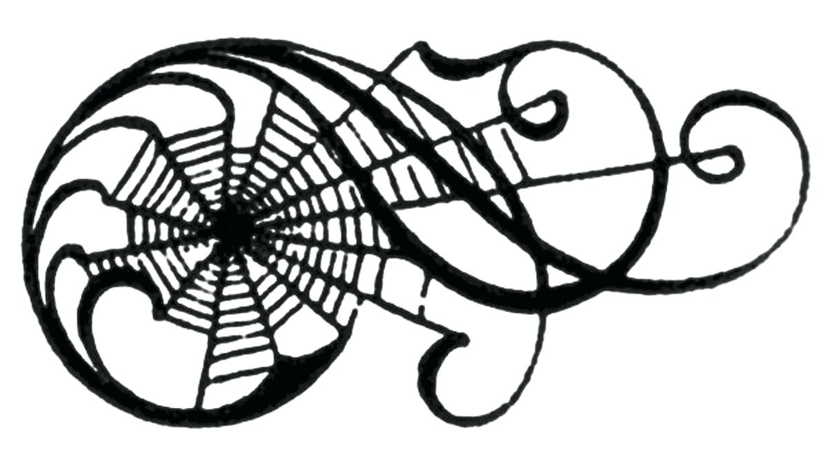1200x672 Vintage Clip Art Awesome Spiderweb Scrolls 22 Cool Spider Web
