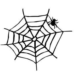 260x260 Spiderweb With Spider Clipart