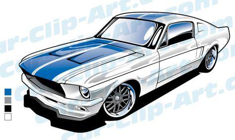 474x284 1965 Ford Mustang Clip Art Art By Hotrodkristina