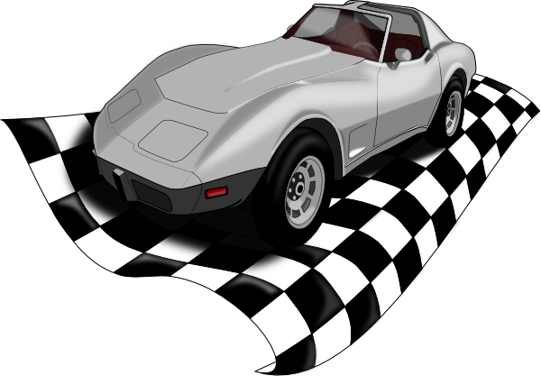600x417 Checker Corvette Clip Art