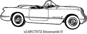 300x118 Classic Corvette Clipart Vector Graphics. 7 Classic Corvette Eps