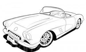 300x181 Classics Clipart Corvette