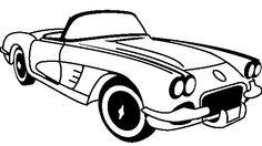 236x132 Corvette Silhouette Clip Art