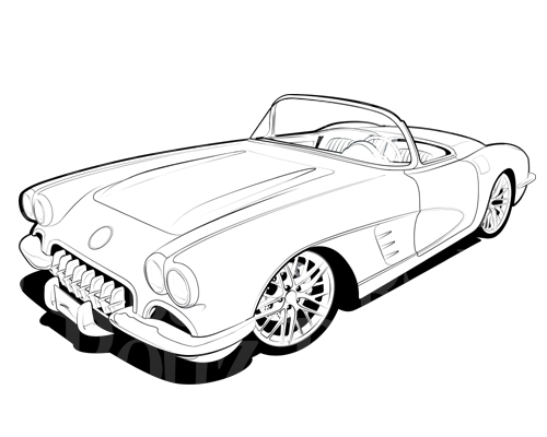 500x400 Corvette Clipart Free Images Cliparts And Others Art