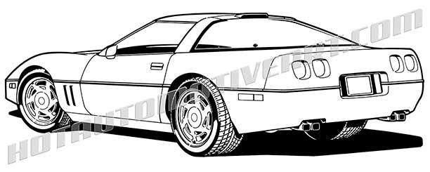 612x245 Free Corvette Clipart