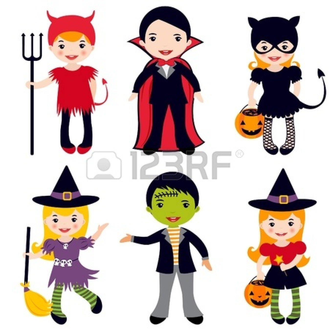 1350x1350 Kids Character Costumes Clipart