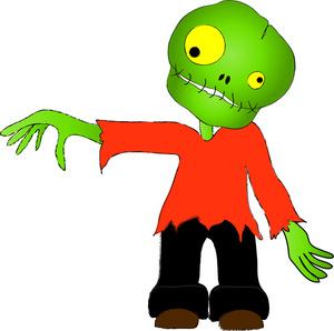 300x298 Zombie Costume Clipart Image