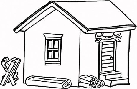 465x302 Cottage Clipart Woods