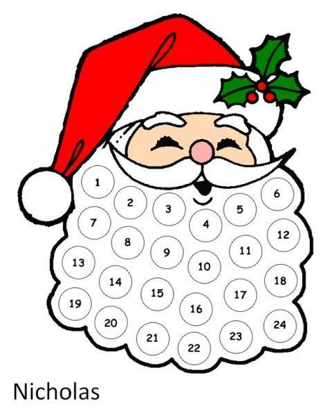 464x600 Santa craft with cotton balls Santa Advent Calendar. Use Cotton