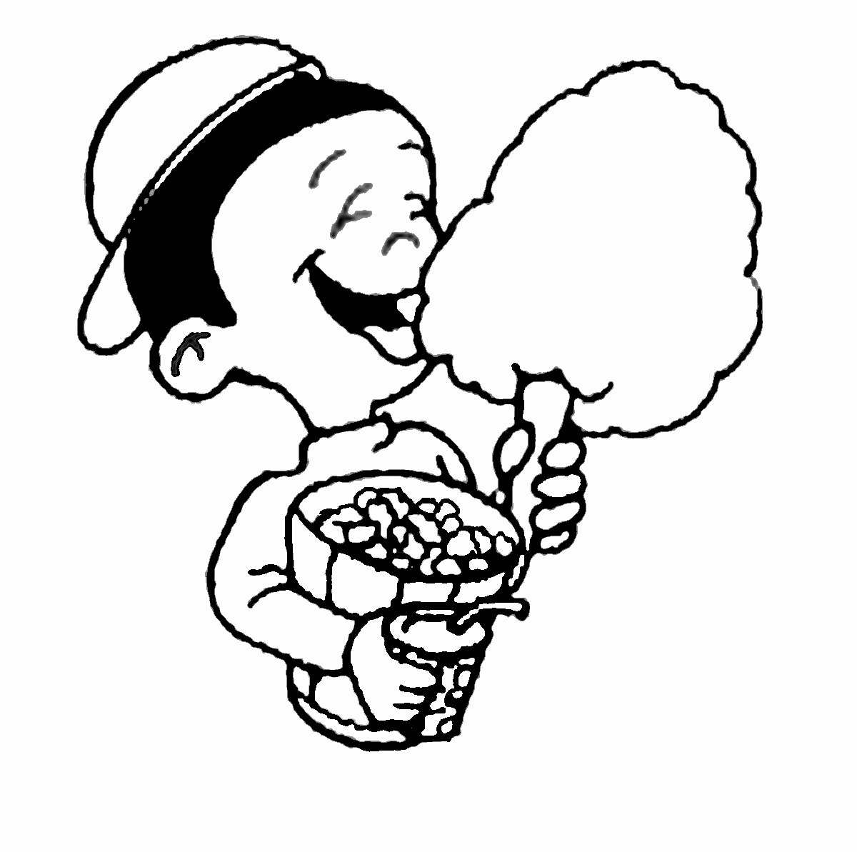 Cotton Candy Coloring Pages Free download best Cotton