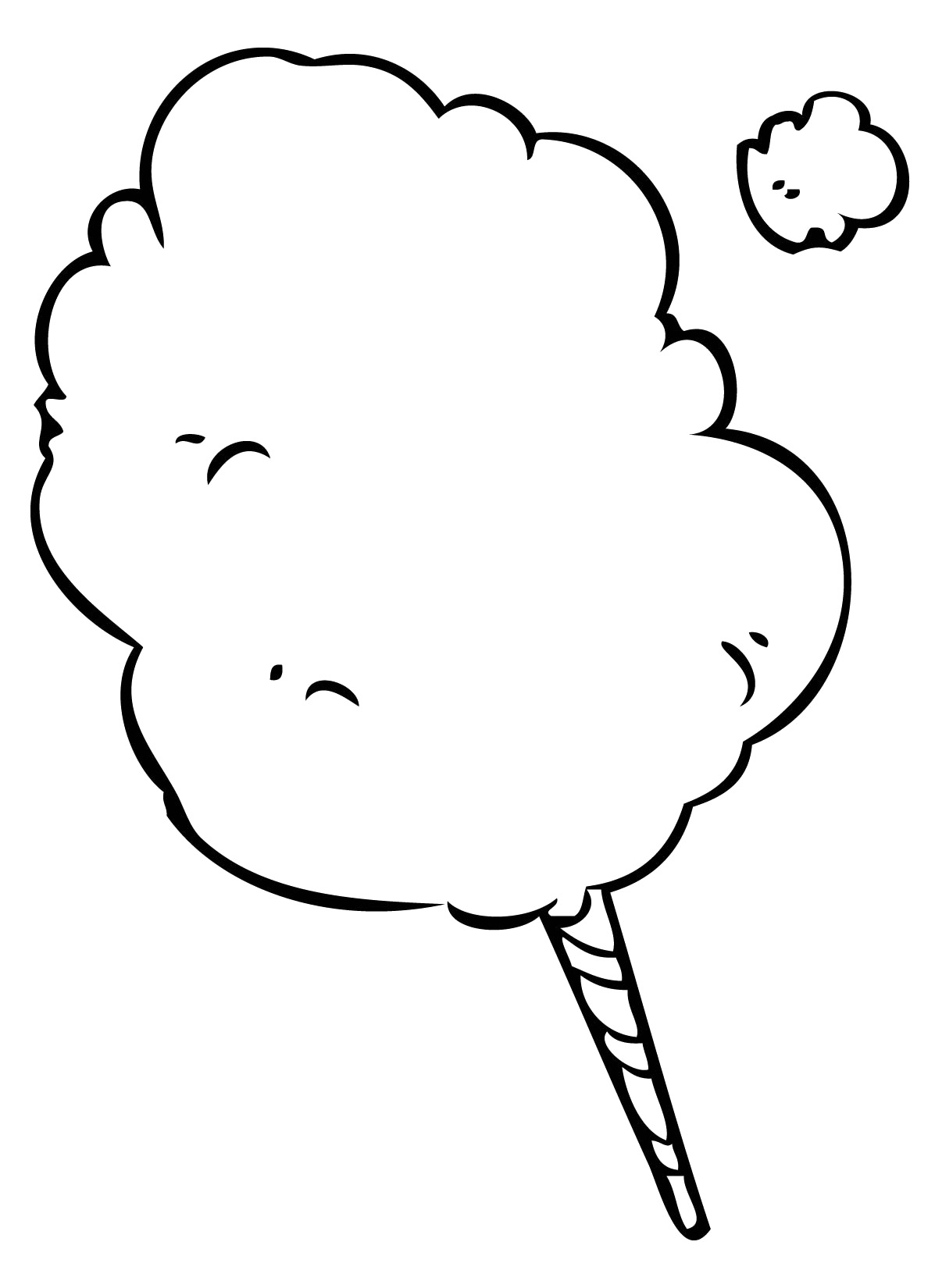 Cotton Candy Coloring Pages Free Download On Clipartmag