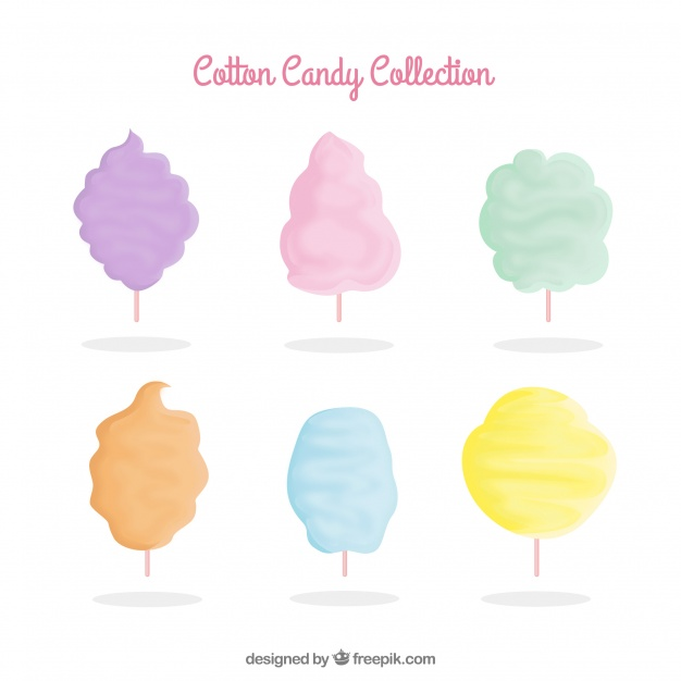 626x626 Set Of Colored Cotton Candy Vector Free Download
