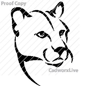 300x300 Cougar Clipart Cougar Head