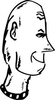 180x329 Bobcat Head Clip Art, Vector Bobcat Head