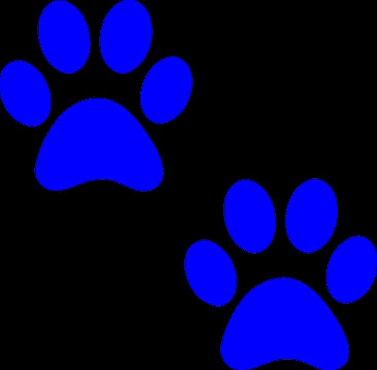 734x720 Dog Paw Prints Panther Paw Print Clip Art Clipart Locker
