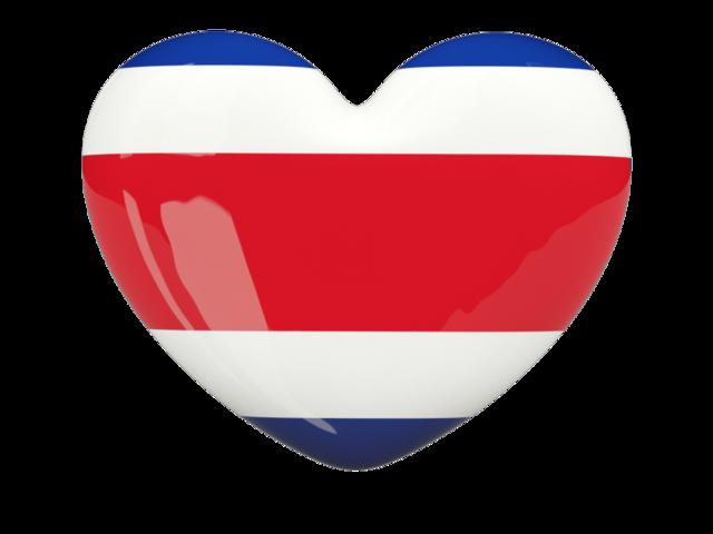 640x480 Costa Rica Flag Heart Icon