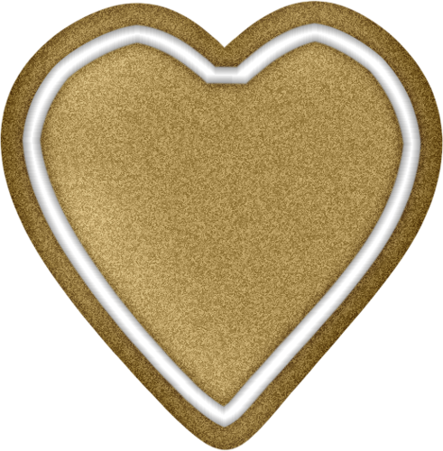 491x500 Gingerbread Heart Clip Art