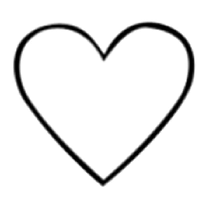 700x700 Heart Shaped Clipart Large Heart