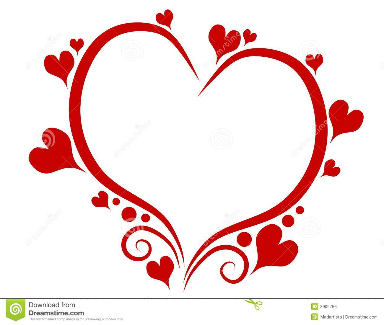 1300x1101 Primitive Heart Clipart