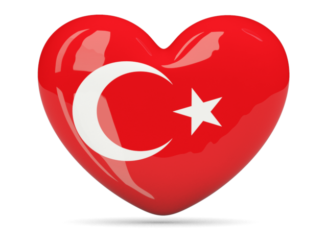 640x480 Turkey Flag Heart