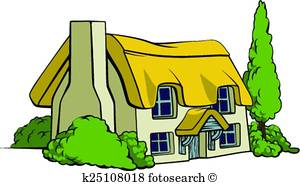 300x186 Country Cottage Clip Art And Illustration. 2,133 Country Cottage