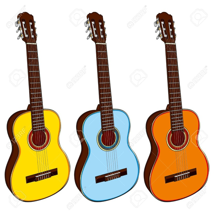830x830 Country Music Guitar Clipart