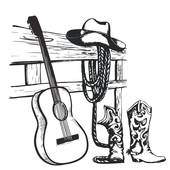 170x170 Country And Western Music Clip Art