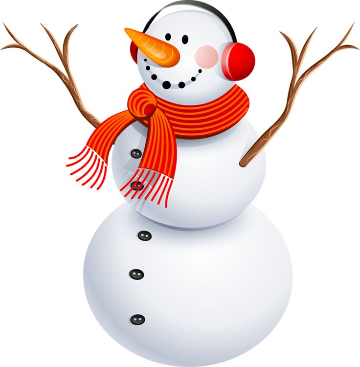 Country Snowman Clipart