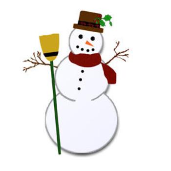 350x350 Christmas Snowman Clip Art Picture