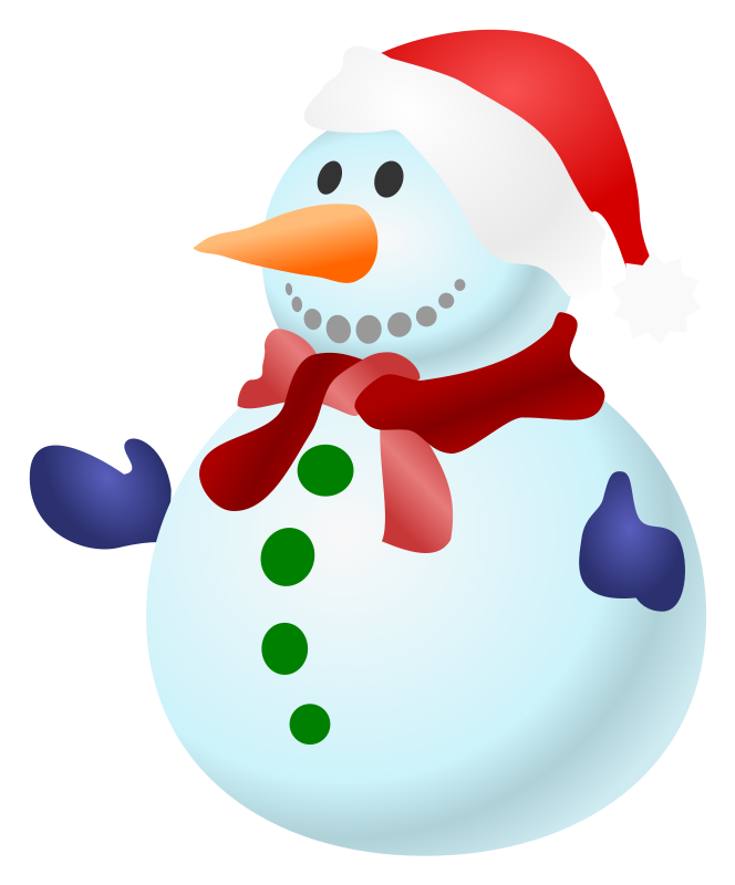 664x800 Country Snowman Clipart