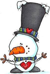 203x300 Snowman And Hearts Snowmen Snowman, Cards And Clip Art
