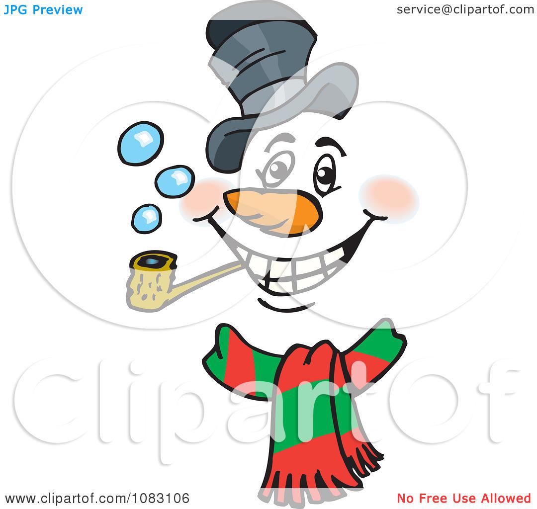 1080x1024 Snowman Face Clipart