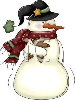 261x350 Snowman Clipart Rustic