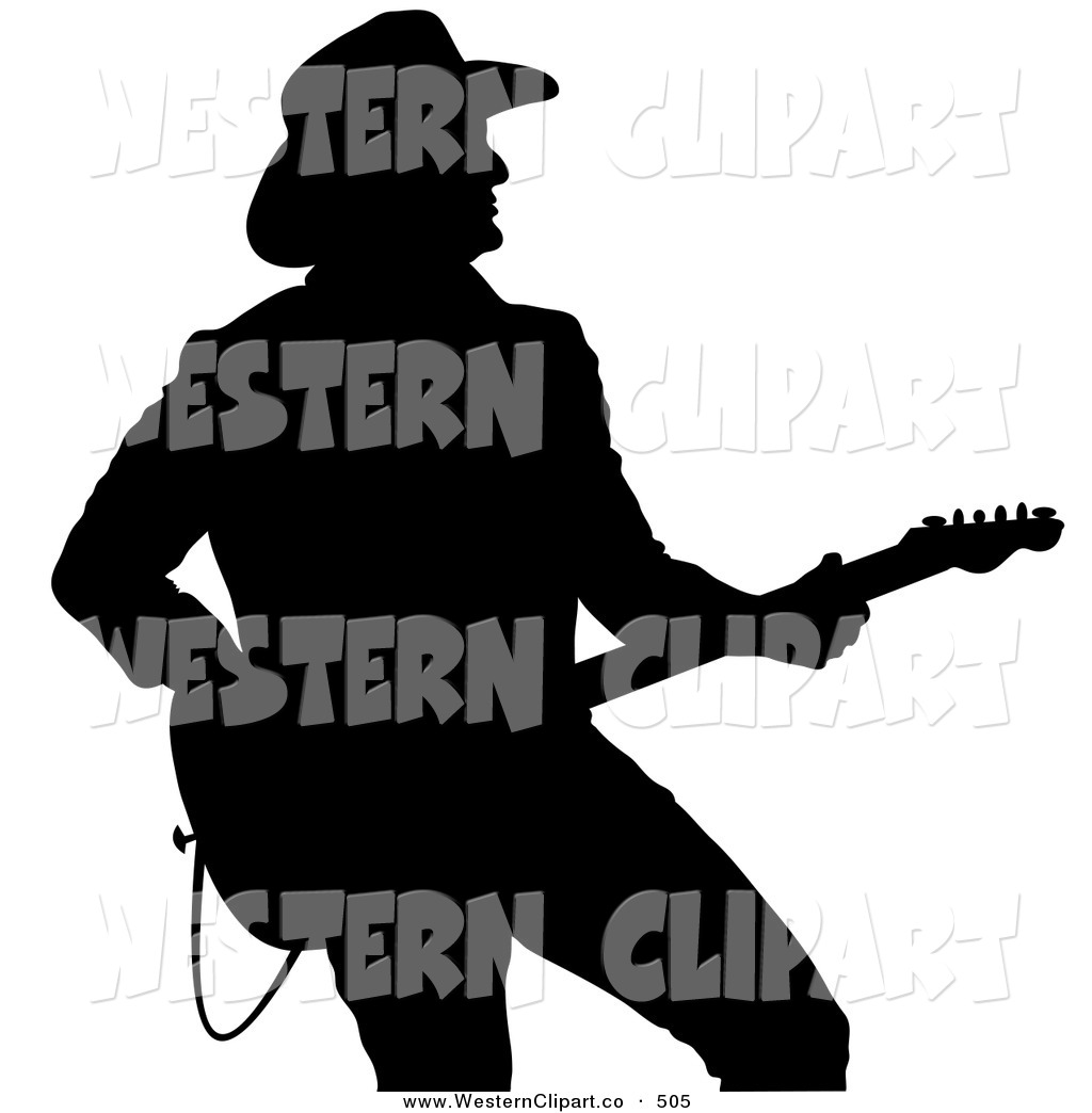1024x1044 Vector Western Clip Art Of A Black Silhouette Of A Country Western