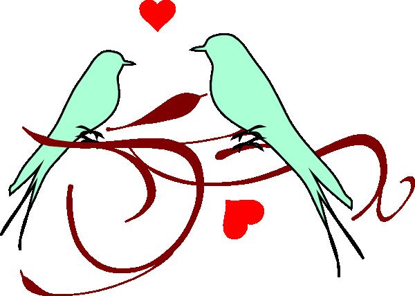 600x428 Love Birds Clip Art