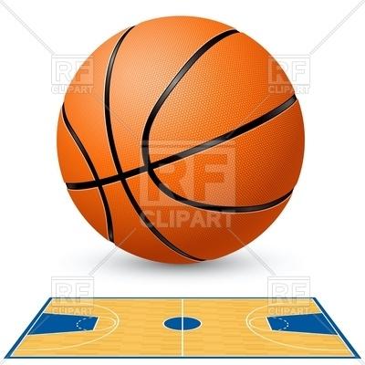 400x400 Basketball And Basketball Court Floor Plan Royalty Free Vector