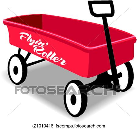 450x425 Red Wagon Clipart And Illustration. 864 Red Wagon Clip Art Vector