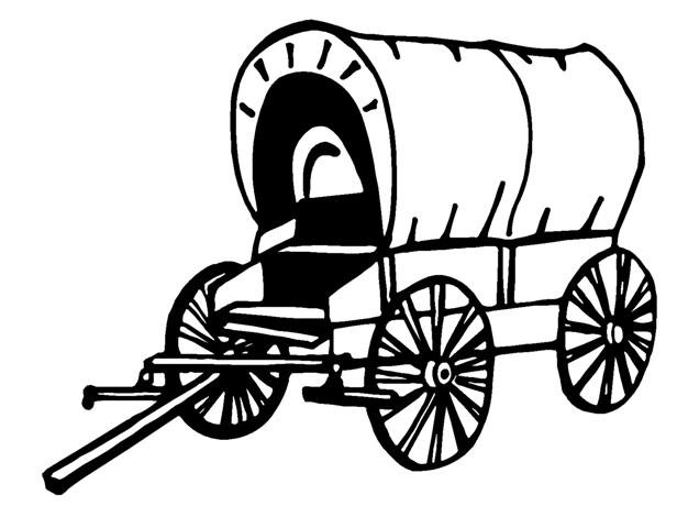 626x480 Covered Wagon Decal Sticker