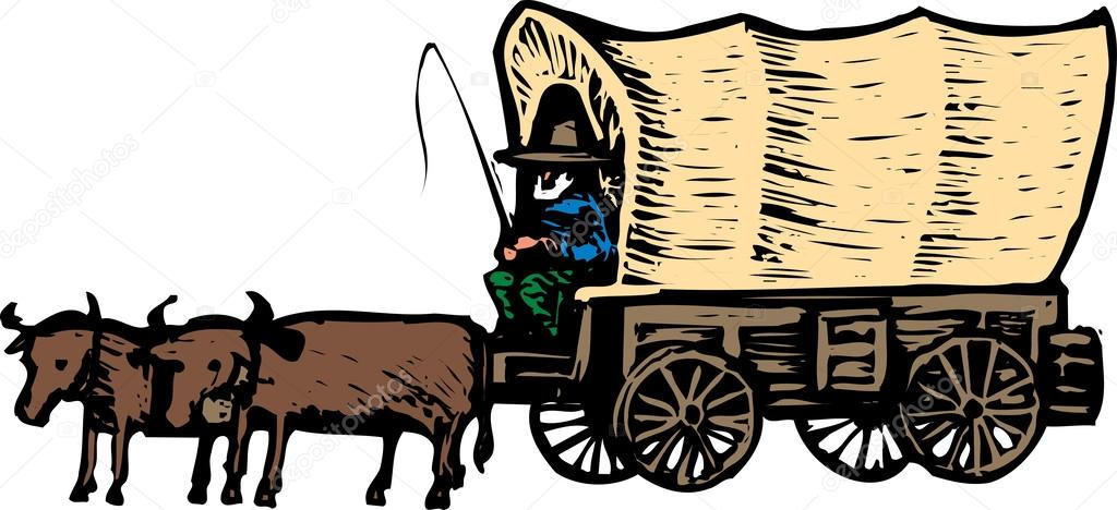 1024x468 Covered Wagon Stock Vectors, Royalty Free Covered Wagon