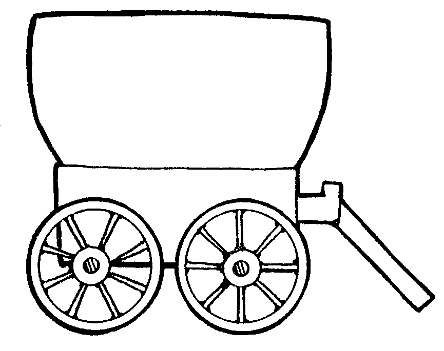 865x685 Pioneer Wagon Drawing Pioneer Wagon Clipart