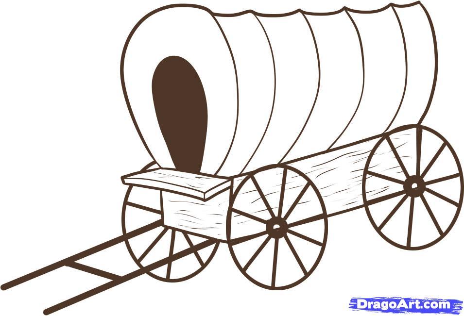 955x651 Pioneer Clipart Horse Drawn Wagon