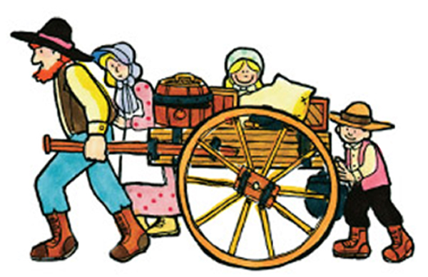 600x388 Pioneer Family Clipart