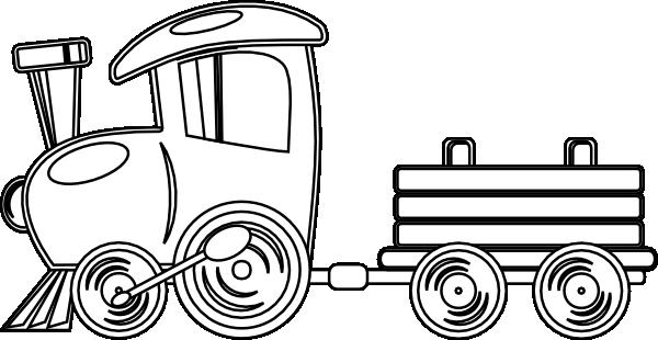 600x310 Train Clipart Outline
